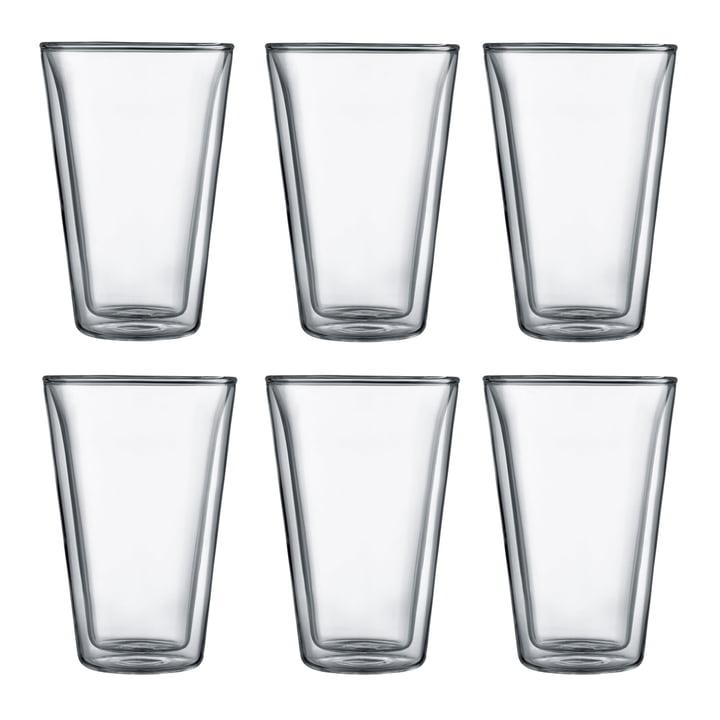 Bodum - Canteen verre, double paroi, 0,4 l, transparent (Set de 6)