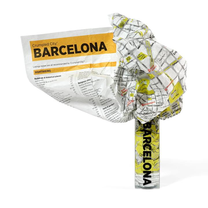 Palomar - Crumpled City Map - Barcelone