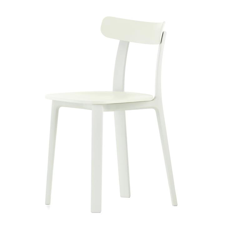 La chaise tout plastique en blanc par Vitra