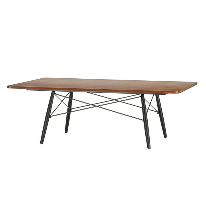 L'Eames Coffee Table en placage de Santos Palissandre avec piètement en frêne noir par Vitra