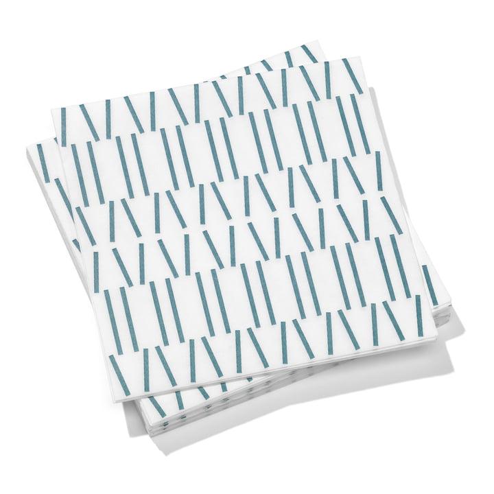Vitra - Paper Napkins large, Broken Lines, gris bleu 40 x 40 cm