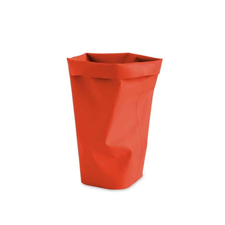 L&Z - Roll-Up Corbeille à papier, orange sanguine