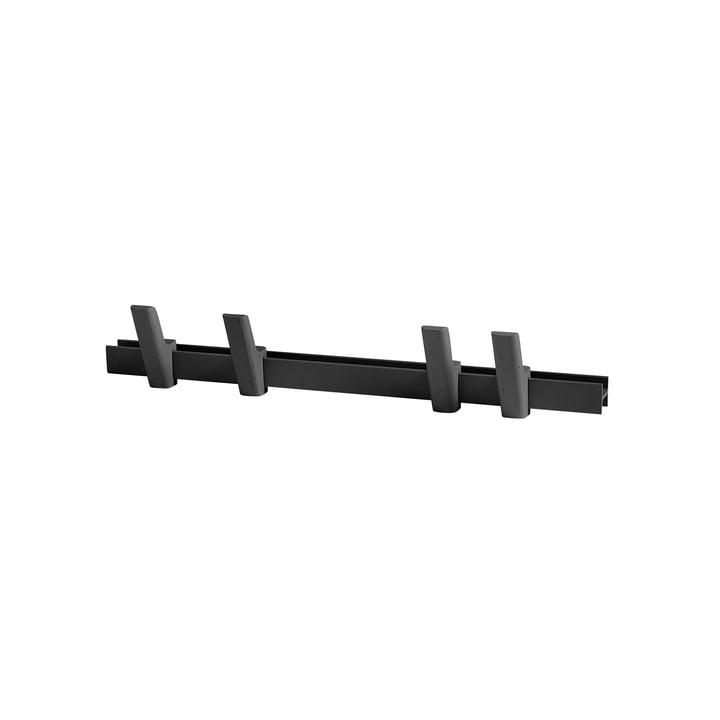 Hay - Beam L 60 cm, charbon / crochets charbon