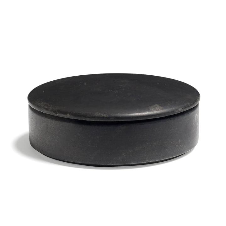Hay - Boîte Lens Box avec couvercle S, empilable, Ø 14cm, noir, marbre