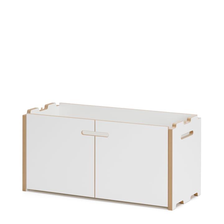 Système d'étagère Hochstapler avec portes en blanc