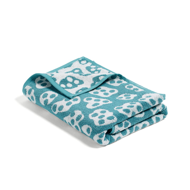 Hay - He She It, serviette de bain She, turquoise/beige