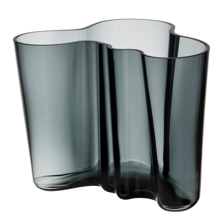 Aalto Vase Savoy 160 mm de Iittala en gris foncé