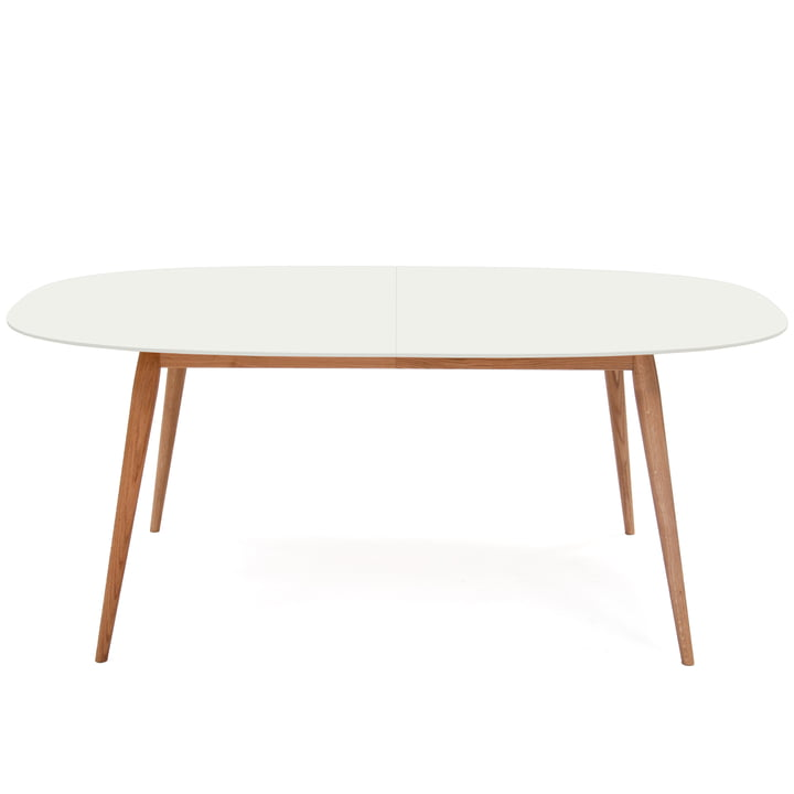 Table d'appoint Play Dinner 180 - 280cm de bruunmunch en chêne naturel/blanc