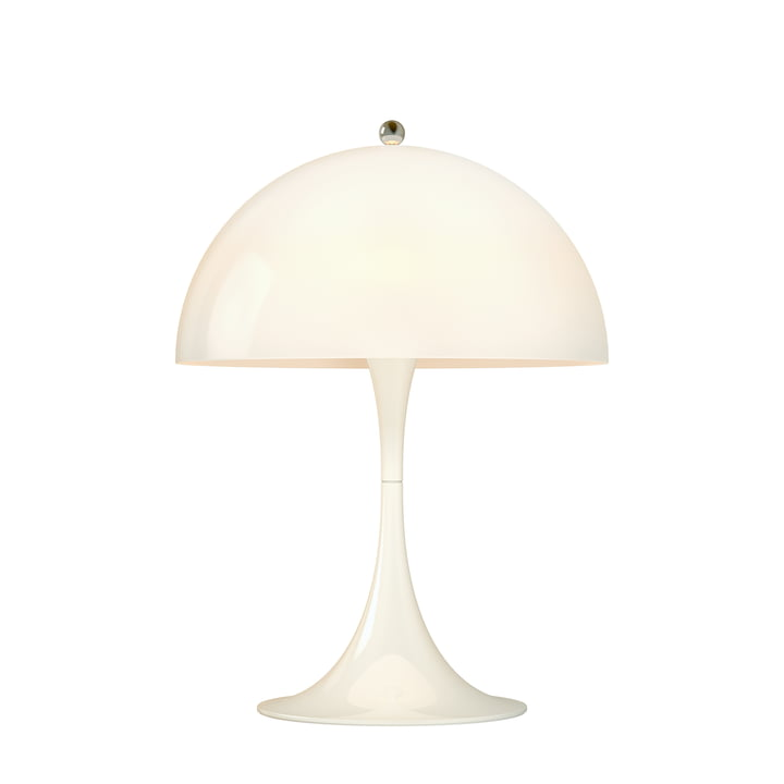 Panthella Mini Lampe de table Ø 25 cm de Louis Poulsen en blanc opale
