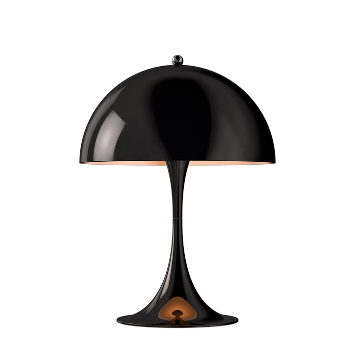 Lampe de table Panthella Mini Ø 250 de Louis Poulsen en noir