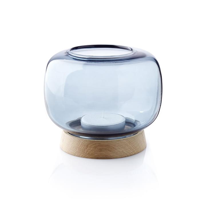Le photophore pour bougies chauffe-plat Hurricane d'applicata maxi en bleu