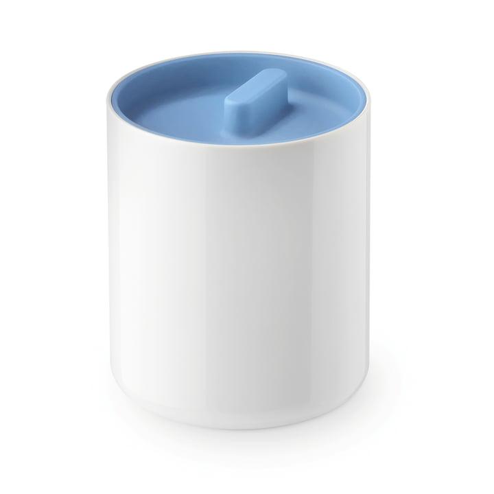 Boîte Lunar avec couvercle Lunar d'Authentics en blanc / bleu moyen