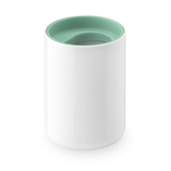Gobelet brosse à dents Lunar d'Authentics en blanc / vert clair
