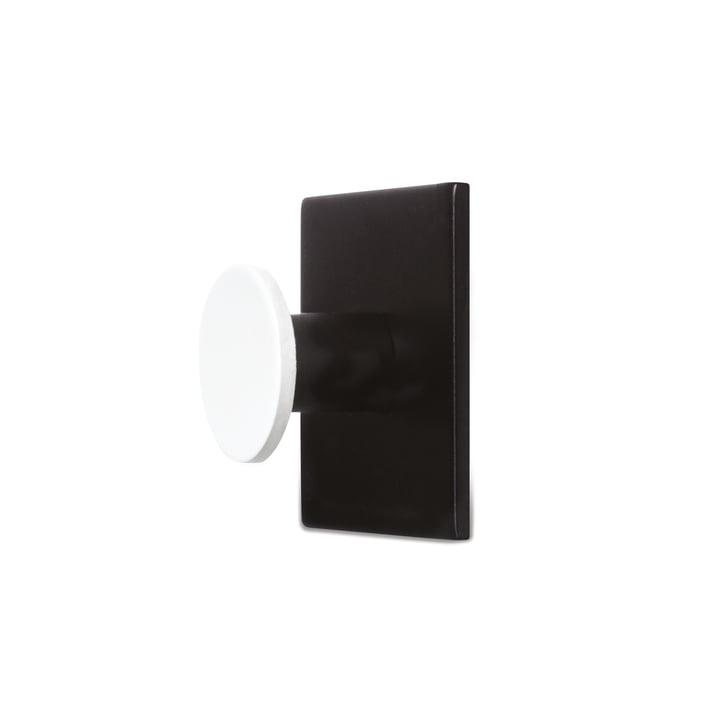 Patère Hook1 de Design Letters en noir/blanc