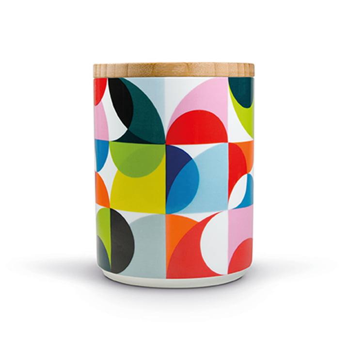 Boîte en porcelaine Solena avec couvercle en bois de Remember
