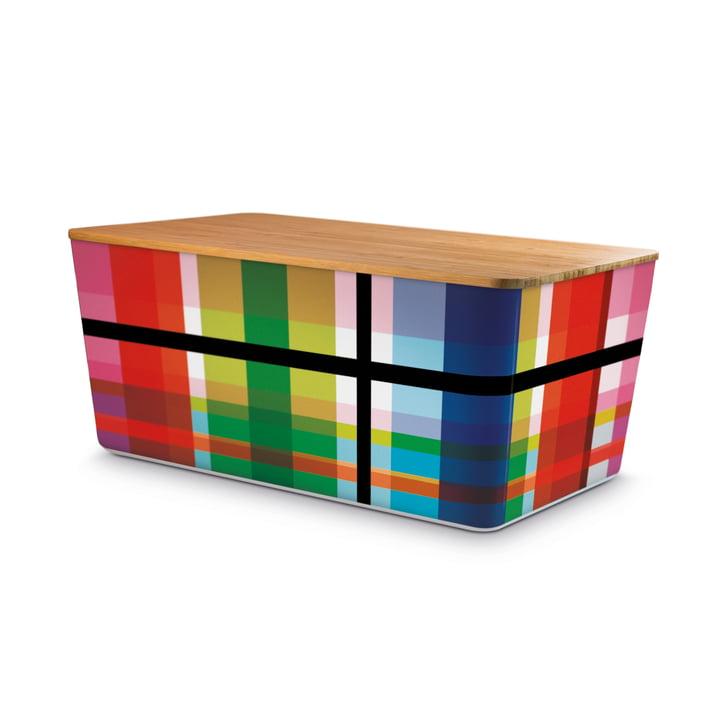 Boîte à pain Zigzag avec couvercle en bambou de Remember