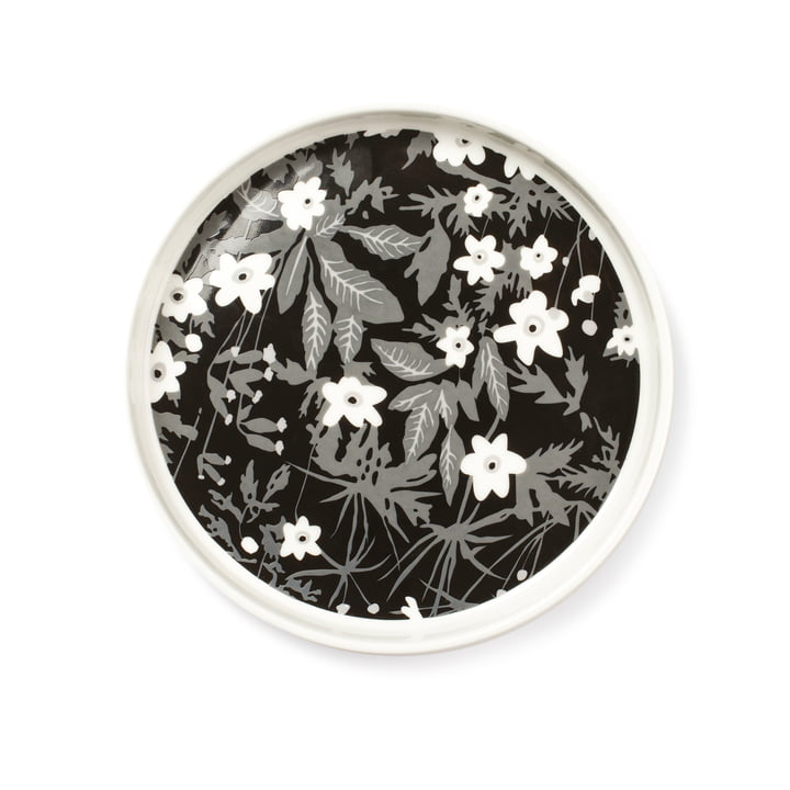 Design Letters - Assiette en porcelaine pour snacks AJ, Vintage Flower