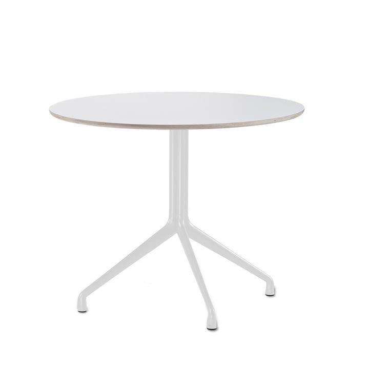 About A Table bistrot AAT 20 3 pieds Ø80 x H73 cm par Hay en blanc (patins en plastique)