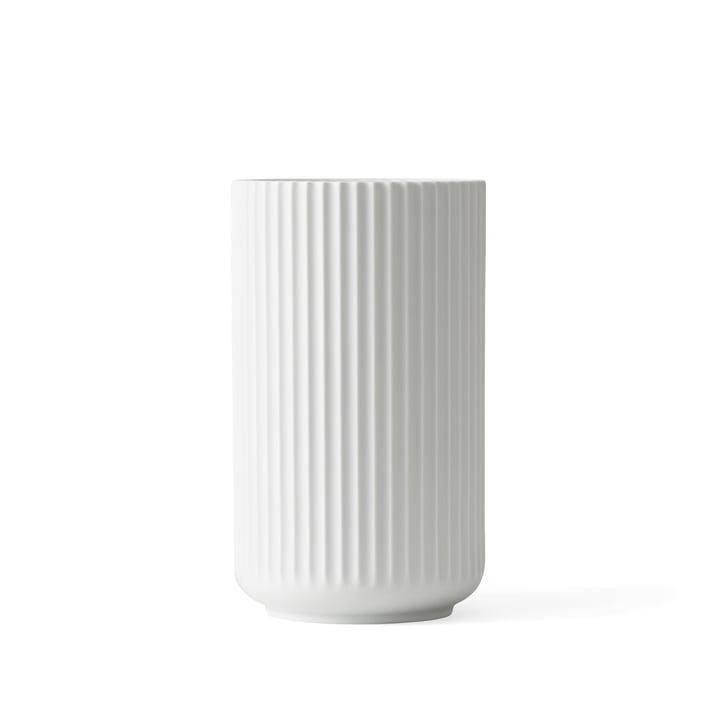 Lyngby Porcelæn - Vase Lyngby, blanc mat, h15cm