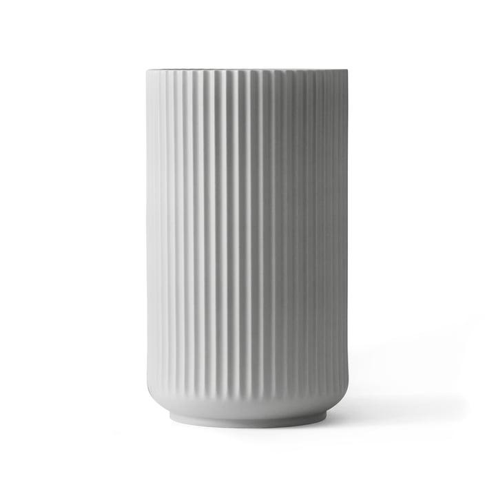Lyngby Porcelæn - Vase Lyngby, gris clair, H 25 cm