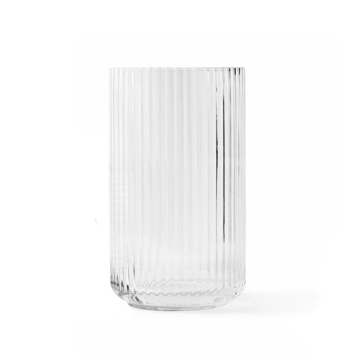 Vase en verre H 20 cm de Lyngby Porcelæn dans transparent