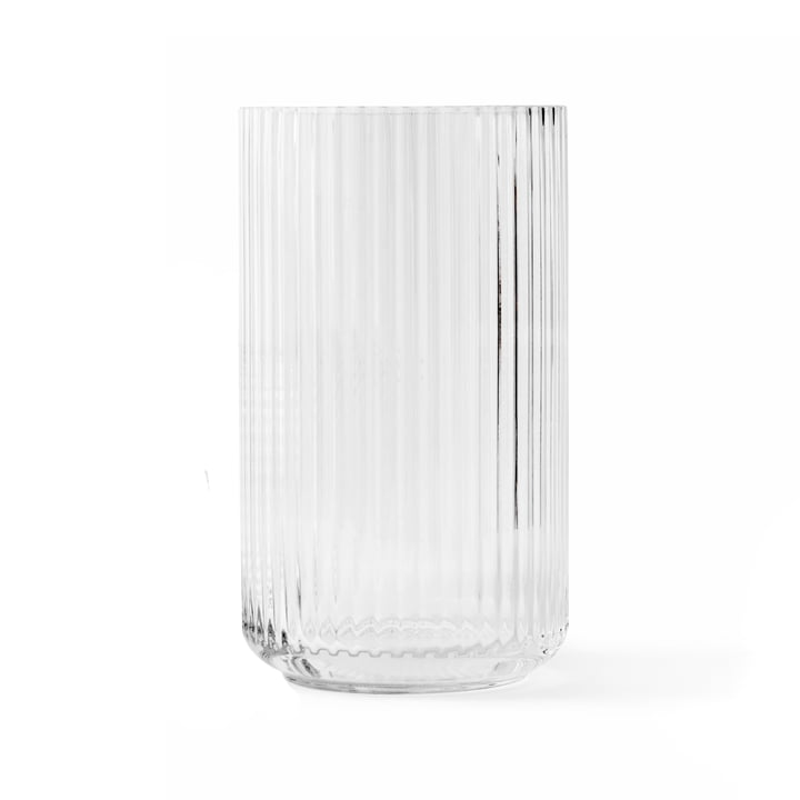 Vase en verre H 25 cm de Lyngby Porcelæn dans transparent