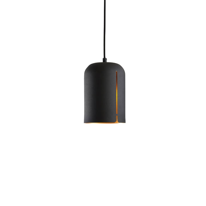 Suspension lumineuse Gap petit format de Woud en noir mat