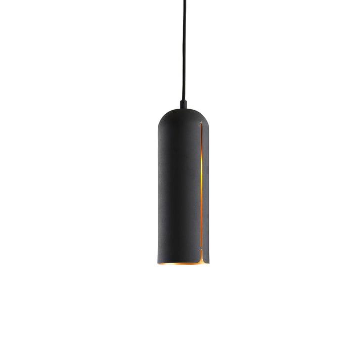 Suspension lumineuse Gap grand format de Woud en noir mat