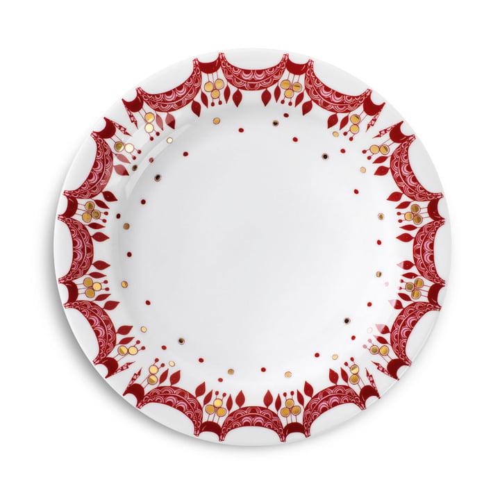 Assiette de Noël Ø20 cm par Bjørn Wiinblad en rouge