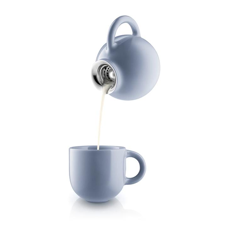 Pot à lait et tasse Globe en bleu nordique