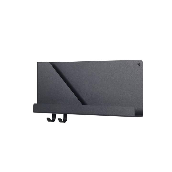 Petite étagère pliée 51 x 22 cm par Muuto en noir