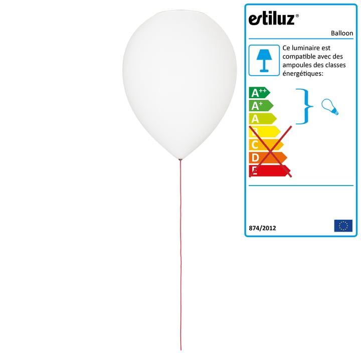 Plafonnier ballon par Estiluz