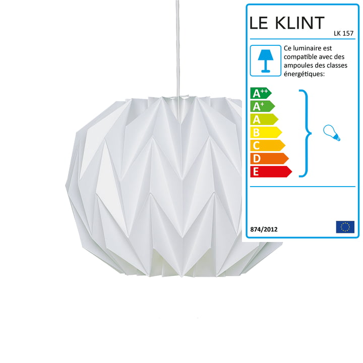Suspension lumineuse 157C Ø 36 cm de Le Klint