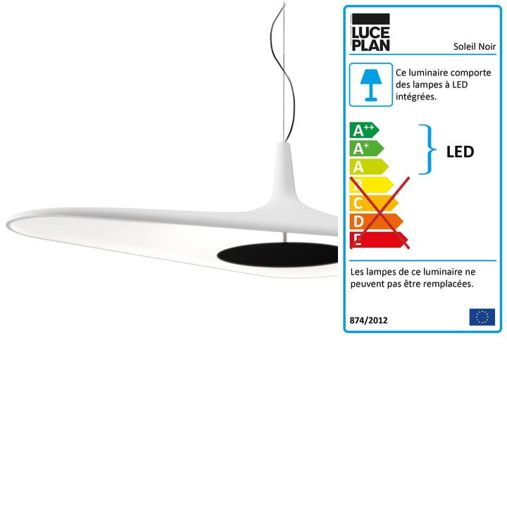 Luceplan - Suspension Soleil Noir, en blanc