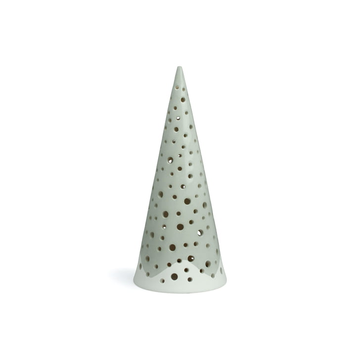 Cône de bougie tealight Nobili 18 cm de design Kähler en gris acier