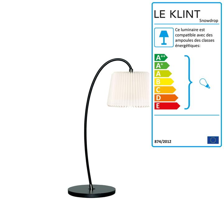 Lampe de table Snowdrop Ø 20cm de Le Klint en noir