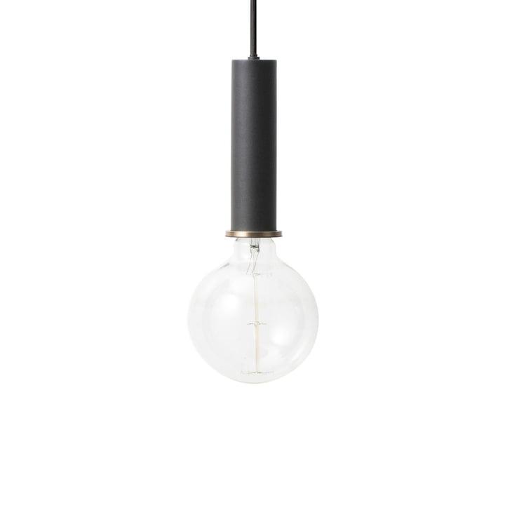 The ferm Living - Luminaire suspendu à douille High en noir