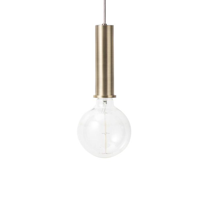The ferm Living - Luminaire suspendu à douille High en laiton