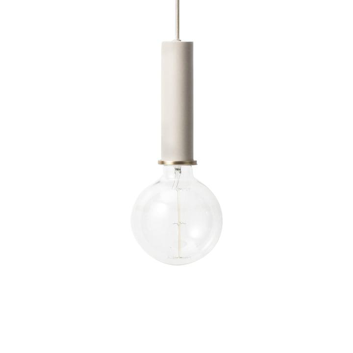 The ferm Living - Luminaire suspendu à douille High en gris clair