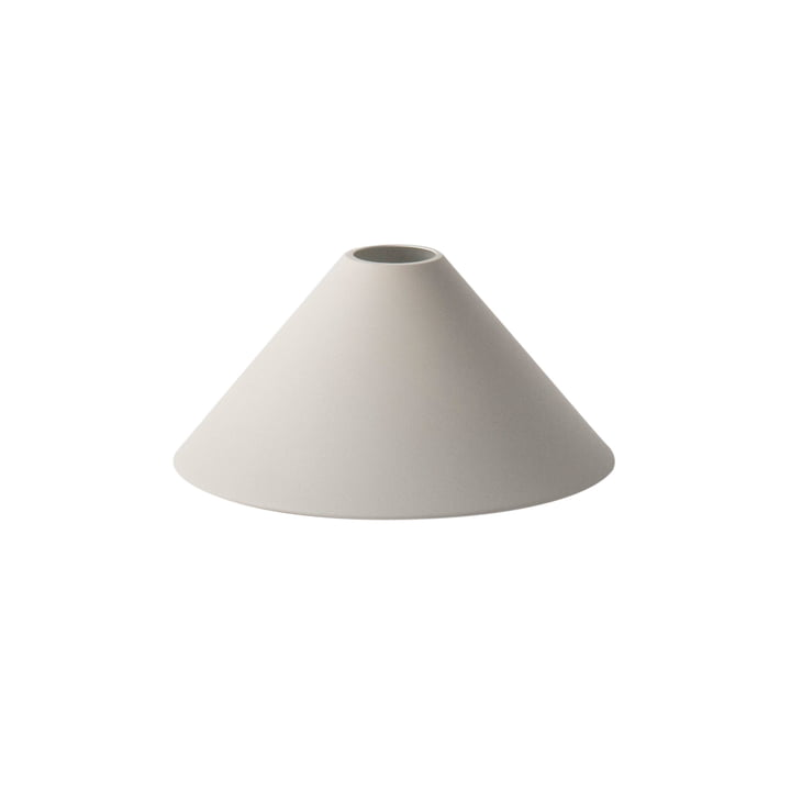 L'abat-jour Cone Shade de ferm Living en gris clair