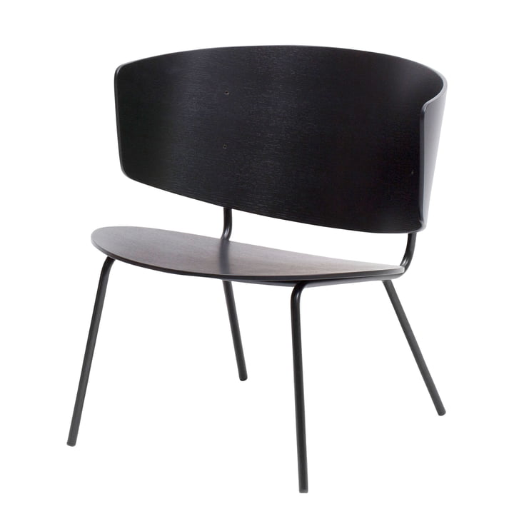 Chaise lounge Herman de ferm Living en noir