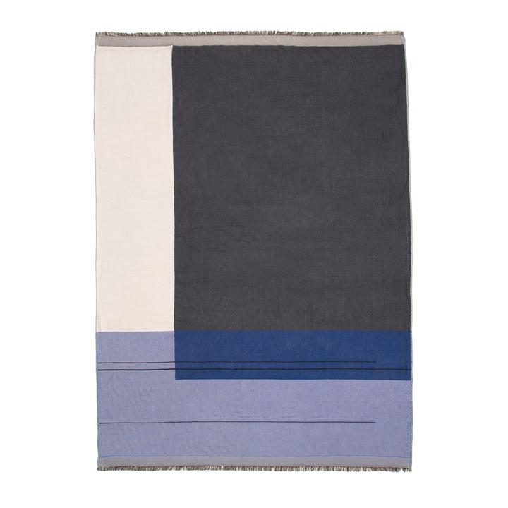 Couverture Colour Block de ferm Living en bleu