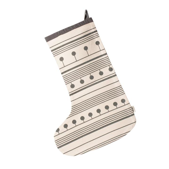 Chaussette de Noël Winterland par ferm Living en gris