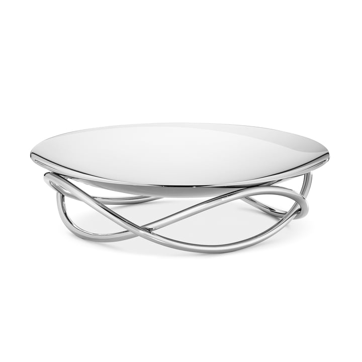 La coupe Glow large de Georg Jensen en acier inoxydable brillant