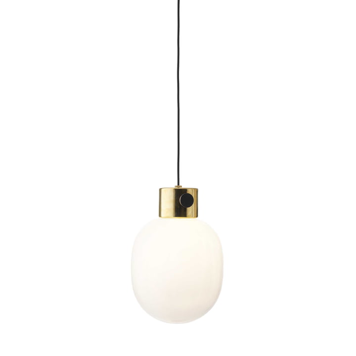 Suspension lumineuse JWDA de Menu en laiton poli miroir