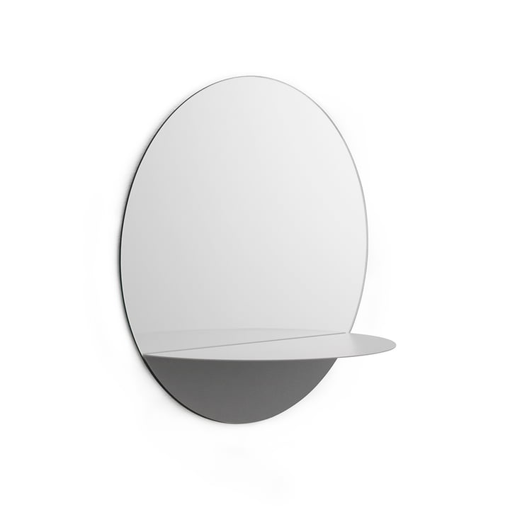Miroir rond Horizon de Normann Copenhagen en gris