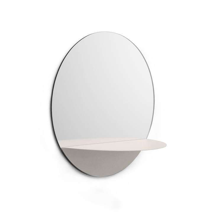Miroir rond Horizon de Normann Copenhagen en blanc