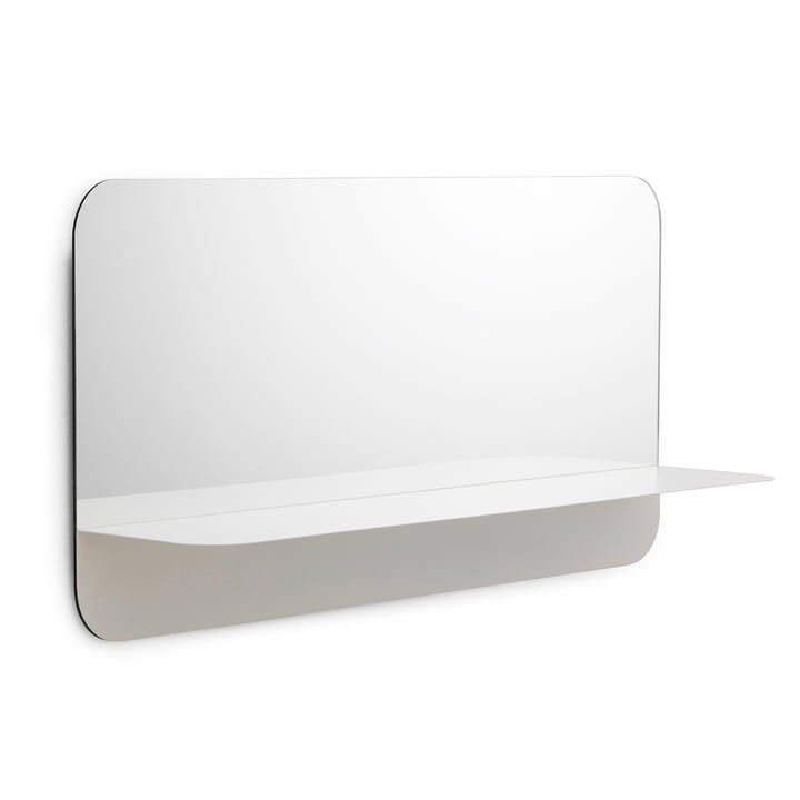 Miroir Horizon horizontal de Normann Copenhagen en blanc