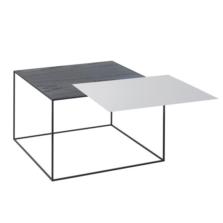 Twin 49 table d'appoint, cadre noir par by Lassen gris cool / frêne noir