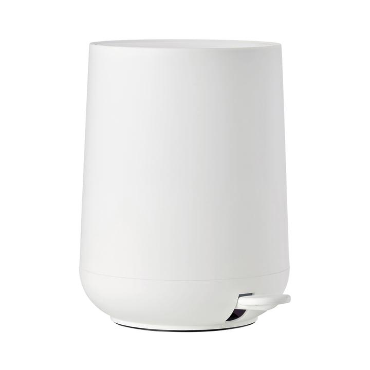 Nova poubelle à pédale 5 L de Zone Danemark en blanc